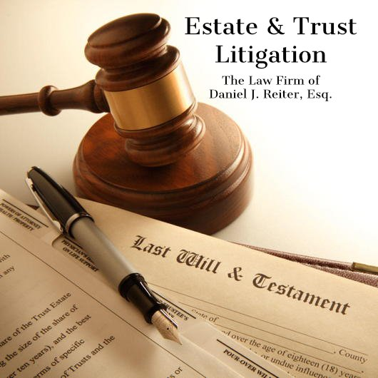 Gavel and News Paper with words Estate & Trust Litigation