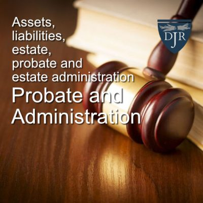 Probate Law Books And Gavel