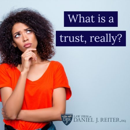 Photo Of Person Wondering What A Trust Is.